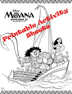 Free Coloring Pages Moana Printables