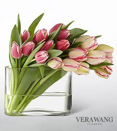 Search for vera wang swept away tulip bouquet 20 stems- Search for vera wang swept away tulip bouquet 20 stems - Flower Arrangement Designs, Flower Arrangements Simple, Flower Vases, Flower Designs, Bright Flowers, Fresh Flowers, Spring Flowers, Beautiful Flowers, Ikebana