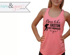 Disney Marathon Shirt // Disney Running Tank // Run like Gaston just proposed to you // Mickey Shirt // Disney Running Shirt // Disney Shirt by HimAndGem on Etsy https://www.etsy.com/listing/219088041/disney-marathon-shirt-disney-running