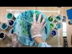 ( 195 ) Acrylic pouring CELLS Floetrol no puring medium. - YouTube