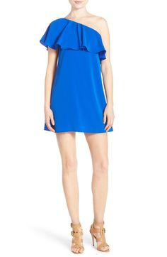 A by Amanda 'Zoe' Ruffle One-Shoulder Shift Dress available at #Nordstrom