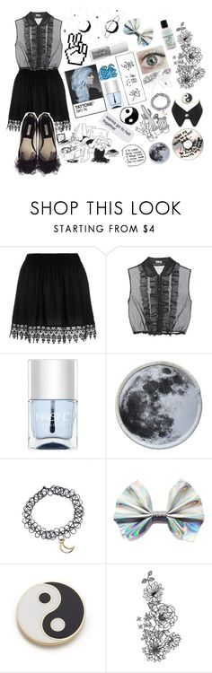 """""""Rose, aka Ghost."""" by the-cute-little-hobbit ❤ liked on Polyvore featuring Miu Miu, Nails Inc., Georgia Perry, goth, OC and beccadoesrequests"""