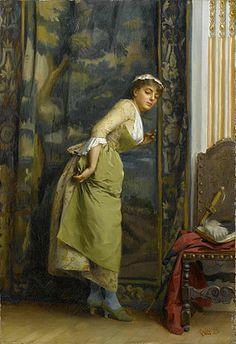 Theodore Jacques Rallis - Eavesdropping - 1880