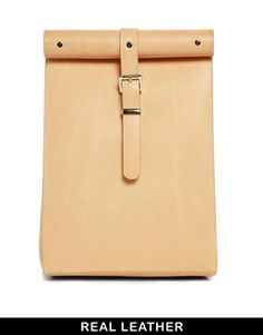 In style this season a Chloe Stanyon Roll Top Leather Backpack in Natural
