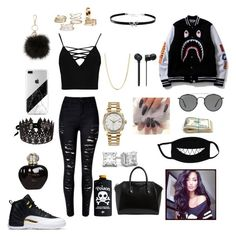 Untitled #22 by queendaiii on Polyvore featuring polyvore, moda, style, Boohoo, Givenchy, Giani Bernini, Rolex, Bianca Pratt, Ray-Ban, Christian Dior, fashion and clothing