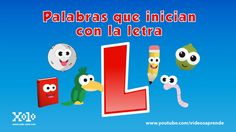 Words that start with the letter L for children in Spanish - Videos Aprende