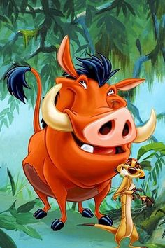 Timon and Pumba - the perfect friends. #Disney #disneymovies #lionking