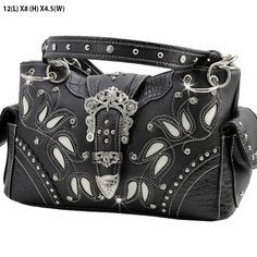 *+NEW+TOP+QUALITY+LEATHERETTE+MATERIAL  *+TWO+CHAIN+AND+LEATHERETTE+STRAP  *+FRONT+WESTERN+BUCKLE  *+TWO+SIDE+POCKETS  *+TOP+ZIP+CLOSURE+/+TWO+COMPARTMENTS