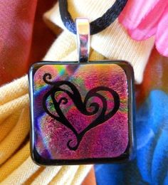 Etched Heart pendant $20
