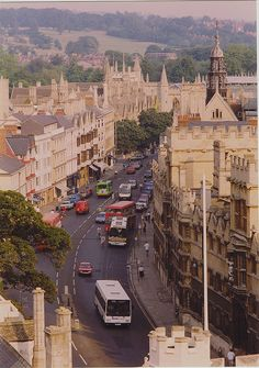 Oxford, England- This street is called the High, its where my university was located. I lived here, cant wait to go back and visit!