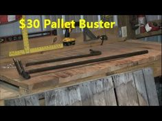 How to Pallet Breaking Tool. I'm thinking about this tool when I start to take apart those oak pallets.  I hate to break any slats, given they're going to be my kitchen floor and I only have so many!