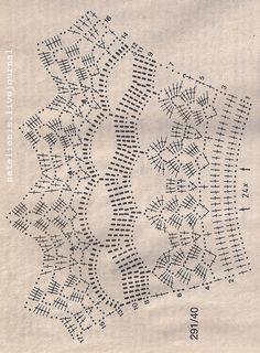 Crochet Lace Collar, Crochet Gloves Pattern, Crochet Lace Edging, Crochet Flower Patterns, Crochet Diagram, Crochet Chart, Crochet Designs, Crochet Stitches, Knit Crochet