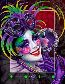 Andrea Mistretta Mardi Gras poster 2010