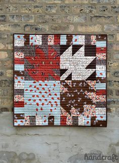 Maple Leaf Mini Quilt // Tutorial A Collection of the Best Quilt Blogs. Get the Top Stories on Quilt in your inbox