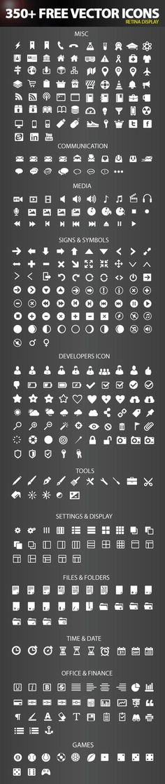 Today's freebie is a high quality, retina display free vector icon pack, 350+ free vector icons infinitely scalable icons for web & user interface designers.