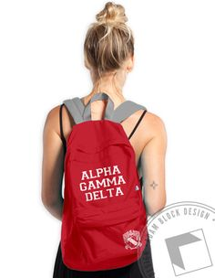 Alpha Gamma Delta - Crest Backpack - Order now to help us reach our goal! 00d995a73a
