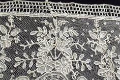 Antique Brussels Lace 34 inches 86 CMS Length Flounce Point de Gaze | eBay