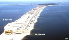 Dauphin Island, Alabama!   You can take the ferry from Ft. Morgan in Gulf Shores over to Dauphin Island.  Take your car, bike or walk on!