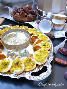 Atayef: Stuffed Arabic pancakes.