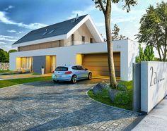 Otwarty - dom parterowy z poddaszem użytkowym i garażem | doomo