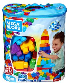 Buy Now First Builders Big Building Bag 80 classic-colored building blocks, including special shapes Perfect for little hands Hands-on play for early childhood development Fisher Price, Toddler Toys, Kids Toys, Montessori Toddler, Toddler Activities, Montessori Playroom, Toddler Playroom, Art Activities, Building Toys For Toddlers