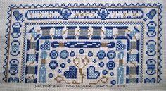 "Part 1-6 SAL Delft Blue  ""Love To Stitch"""
