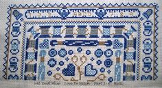 Part 1-6 SAL Delft Blue  Love To Stitch