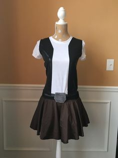 Han Solo Inspired Running costume Performance fabric outfit skirt/t shirt by Fit4aPrincessShop on Etsy https://www.etsy.com/listing/260159563/han-solo-inspired-running-costume