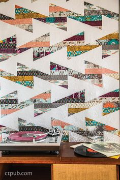 Strip Your Stash: Dynamic Quilts Made From Strips by Gudrun Erla #StripYourStash