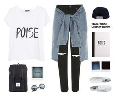 """Untitled #1005"" by theonlynewgirl ❤ liked on Polyvore featuring moda, Topshop, River Island, Vans, MANGO, Herschel Supply Co. y Polaroid"