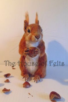 needle felted squirrel felted squirrel needle by TheHouseofFelts