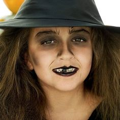 Witches are one of the most popular costumes at Halloween time -- for both children and adults. There are many options and looks that can be used, from drawing warts and spider webs on your face to . Kids Witch Halloween Costume, Halloween Makeup For Kids, Holidays Halloween, Spooky Halloween, Halloween Face, Simple Witch Makeup, Kids Witch Makeup, Kids Makeup, Makeup Ideas