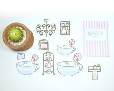 Milk Bath Planner Diecuts by PaperDollzCo Milk Bath, Sell On Etsy, Fun Crafts, Free Printables, Etsy Seller, Best Gifts, Anniversary, Etsy Shop, Invitations