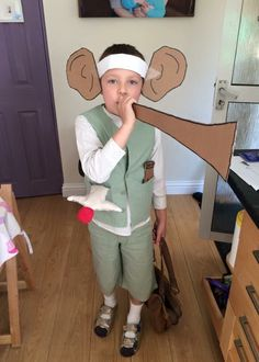 My son wanted to be the BFG for literacy week, this is what it turned out like! I'm very impressed ;)