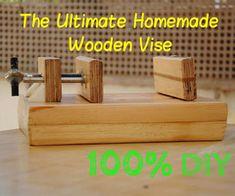 Ako sa stavia drevené Drill-Press Vise |  DIY drevoobrábacie nástroje # 3