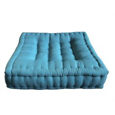 Mattress seat cushion pad (Turquoise, Cotton, Kapok, Linen) | eBay
