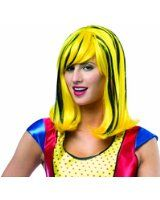 Rasta Imposta Women's Pop Art Girl Wig