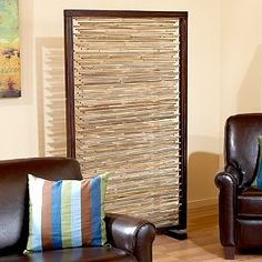 banyanroomdivider.... Wooden frame screw in blind and add leg.... Need to make this to cover brothers stuff.