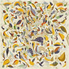 Scarf 90 Hermès | Le Bal des Oiseaux