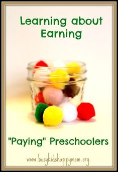 Paying Preschoolers for Chores from Busy Kids Happy Mom Preschool Learning, Fun Learning, Preschool Activities, Preschool Teachers, Motor Activities, Indoor Activities For Kids, Crafts For Kids, Skills To Learn, Life Skills