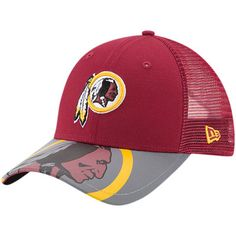 1c74a10c34e Youth New Era Burgundy Washington Redskins 2017 Sideline Official TD Knit  Hat