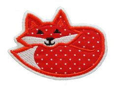patch FOX applique Embroidered iron on patch on by NaehNu on Etsy