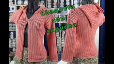 Chaqueta con capuchas. A dos agujas Lana, Videos, Youtube, Sweaters, Dresses, Fashion, Weaving, Cowls, Sacks