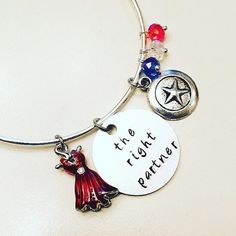 The Right Partner Agent Peggy Carter Captain America Adjustable Steggy Hayley Atwell Bangle Charm Bracelet