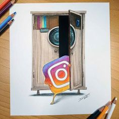 artfido: Instagram's new born logo as seen by @dinotomic Do you feel familiar with the new logo yet? Shared by @marlon_art Want a feature to our millions of followers across our blog and social media accounts? Here's how to do it: 1. List 3 or 4 works of your art for sale on www.artFido.com. 2. Share your artFido listings with your contacts to help you sell your art. 3. Email us at blog@ artFido.com and show us you have done 1 and 2 above. It's that easy!
