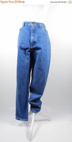 47f27038 SHOP SALE Vintage 1990s Original Lee Riders Authentic Dark Blue Denim Wash  High Waist Tapered Leg Pants Mom Jeans Sz 12 Large