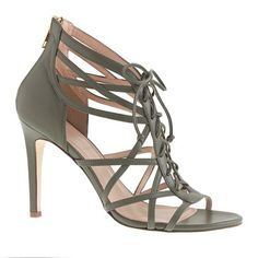 J.Crew - Collection lace-up cage high-heel sandals