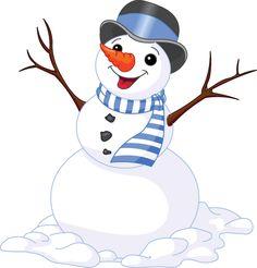 Cheerful Snowman Image