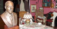 Musée Sherlock Holmes, Lucen, Switzerland created by Adrian Conan Doyle (swissinfo. 221b Baker Street, Sherlock Holmes, Conan, Switzerland, Buddha, Museum, Sculpture, Statue, Sculptures