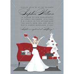 bridal and wedding shower invitations fabulous christmas bride bridal shower invitation doc milo